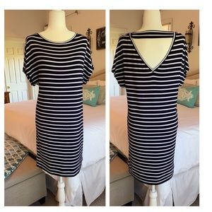 Gap Black & White Stripe Knit Dress Size Small